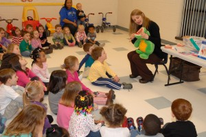 VGCC Child Care Center kids learn about Dental Hygiene.  (VGCC Photo)
