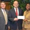 From left, VGCC Endowment Director Eddie Ferguson, Josh Towne and Dr. Stelfanie Williams, the president of VGCC, mark the creation of the new Chick-fil-A of Henderson scholarship.   (VGCC photo)