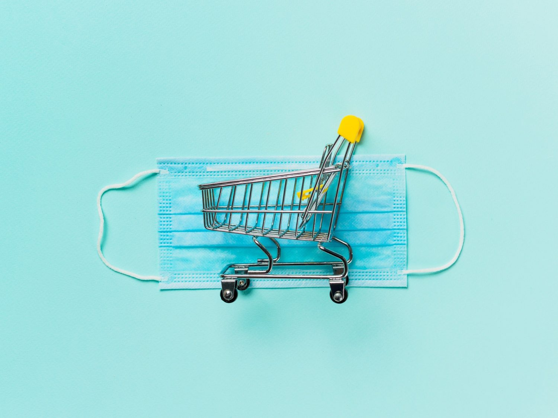 Coronavirus and shopping concept